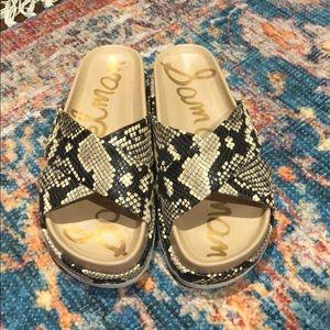 Sam Edelman size 8 snake platform sandal